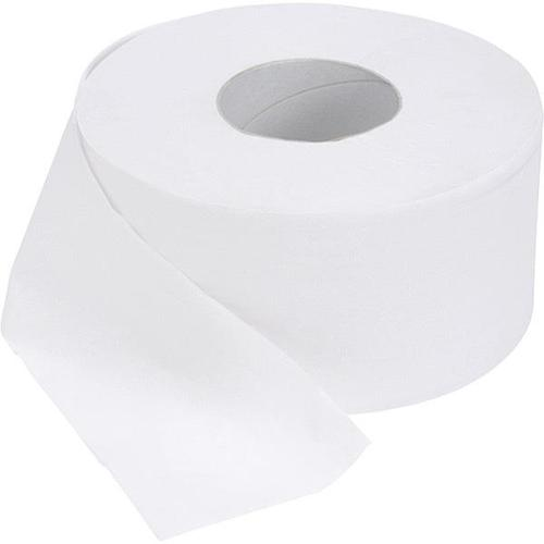 Glensoft Jumbo Toilet Roll 2-Ply White 90mm Width 60mm Core 400M Roll CAS0040 [Pack 6]]