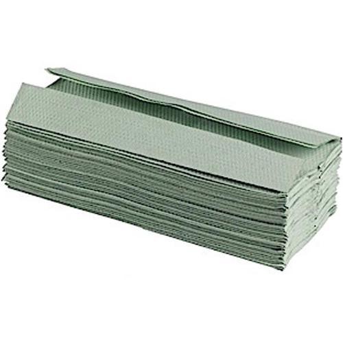 Glensoft C-Fold Hand Towels 1-Ply Green 15x182 Sheets 230x330mm CAS0610 [Box 2730]