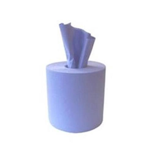 Glensoft Centrefeed Rolls 2-Ply Blue 180mm x 150m Roll CASL146 [Pack 6]