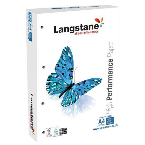 Langstane FSC Office Paper A4 White (Pre-punched 4-holes 8mm dia) [Pack 500]