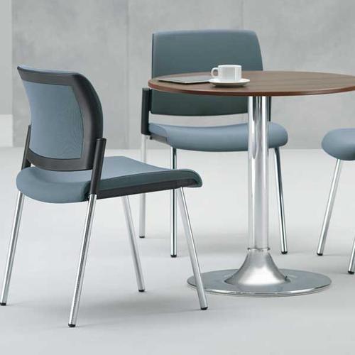 Kind Mesh Back Meeting Chair w/ No Arms & 4 Leg - Black Mesh/Phoenix Havana/Black Frame (KDMC21B)
