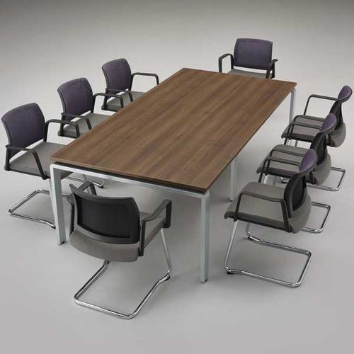 Kind Mesh Back Meeting Chair-Fixed Arms & Cantilever -Black Mesh/Phoenix Havana/Black Frame (KDMC52B