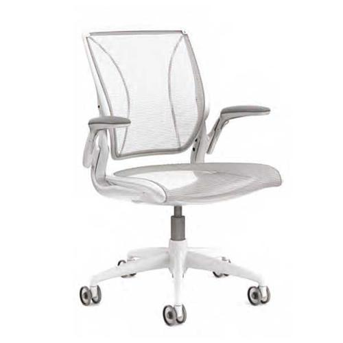 Humanscale Diffrient World Task Chair White Mesh Back and White Mesh Seat W11WN01N01