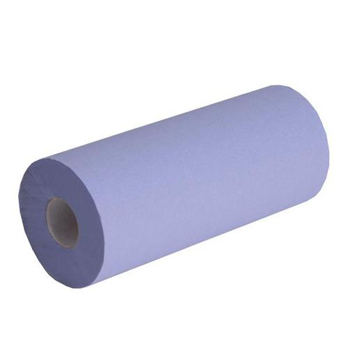 Glensoft Wiper Rolls 2-Ply Blue 250mm x 40M CAS0450 [Pack 18]