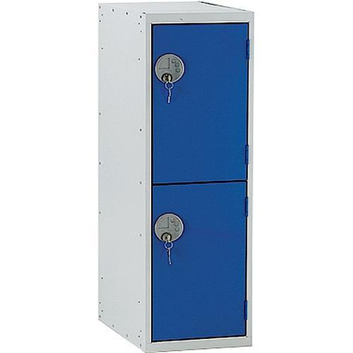 Link Two Door Locker Grey Body Blue Doors Deadlock 900h x 450w x 450d mm Ref BH5512GUCF00