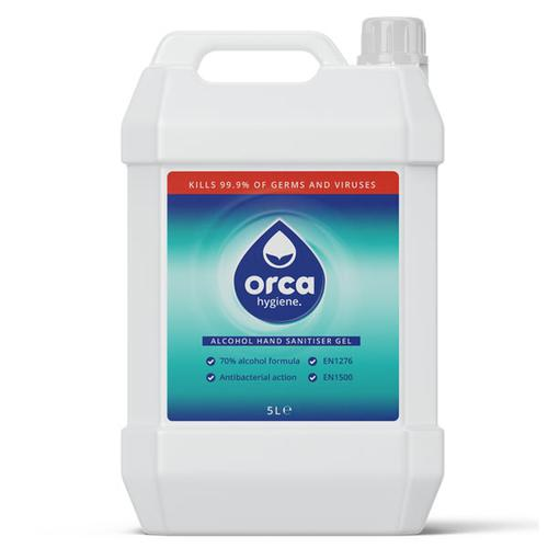 OrcaGel Anti-Bac Hand Sanitiser Gel 70% Alcohol 5 Litre ORC255