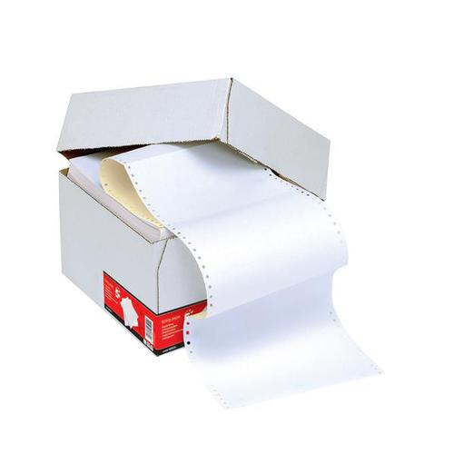 Listing Paper 2-Part NCR Micro Perf 112/3 inch x 235mm (A4) Plain White/Yellow [1000]