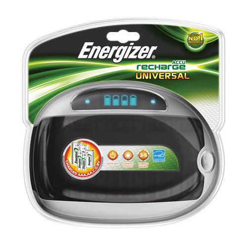 Energizer Universal Battery Charger with Smart LED 2-5Hrs Charging Time for AAA AA C D 9V E301335701