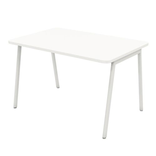 L&P ASCEND Rectangular Table 1200 White/White
