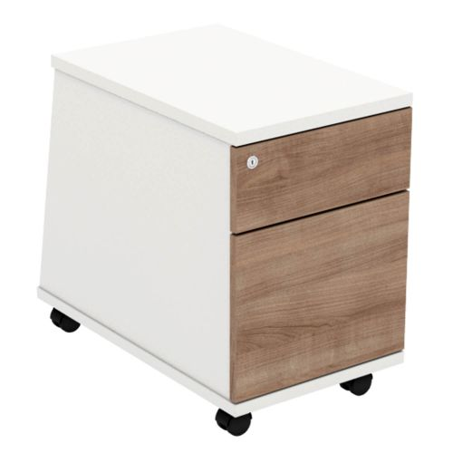 L&P ASCEND 2D Mobile Pedestal White/Birch