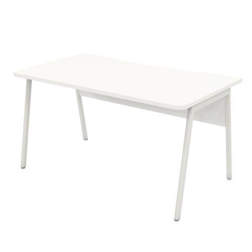 L&P ASCEND 1400 Rectangular Desk White/White