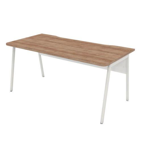 L&P ASCEND 1600 Rectangular Desk White/Birch