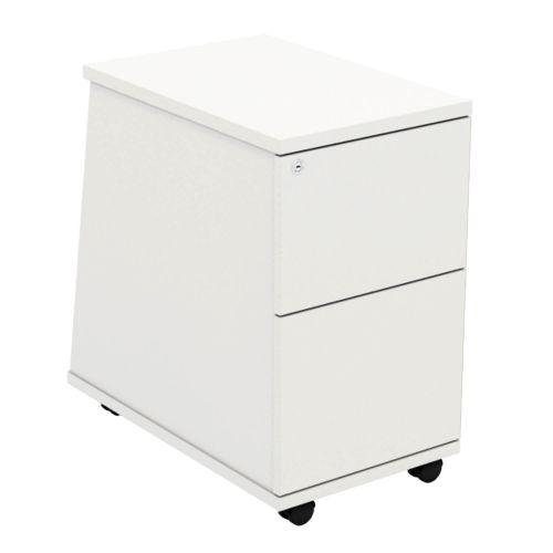 L&P ASCEND 2 Drawer Under Desk Ped White/White