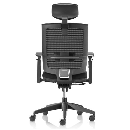 DRAYTON Black Task Chair (with headrest and seat slide)