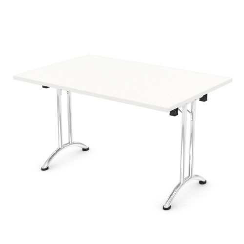 L&P FOLDING Rectangular Table 1200mm Chrome White