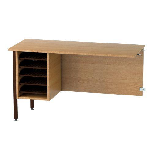 L&P GALAXY Secretarial Desk Return 1000mm Brown/Light Oak