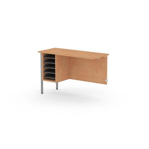 L&P GALAXY Secretarial Desk Return 1000mm Grey/Beech