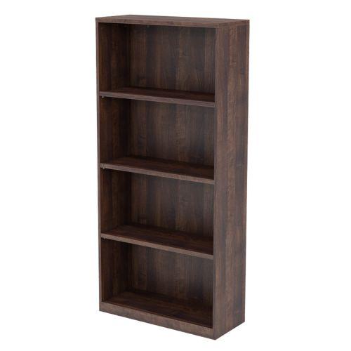 L&P INFINITY 1725H x 800W 3-Shelf Bookcase Walnut