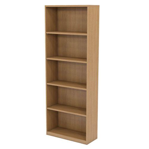 L&P INFINITY 2141H x 800W 4-Shelf Bookcase Light Oak