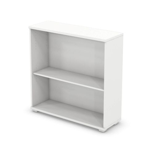 L&P SIGNATURE Bookcase 1000H x 1000W Single Shelf White Base/White Finish