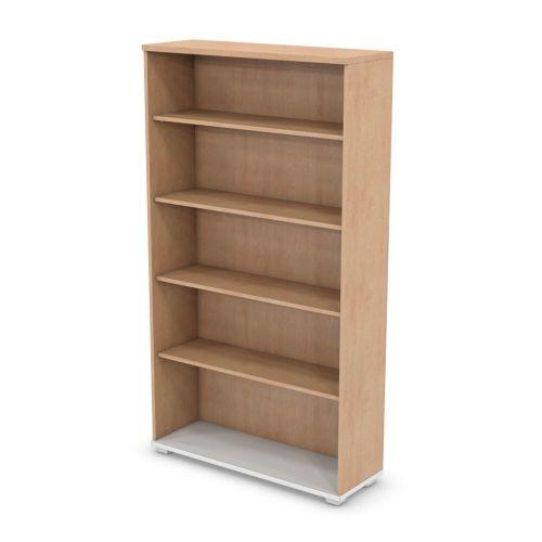 L&P SIGNATURE Bookcase 1800H x 1000W Four Shelf White Base/Beech Finish