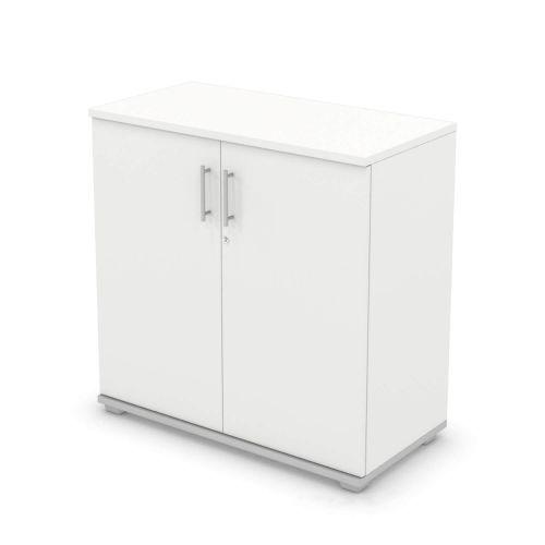 L&P SIGNATURE Cupboard 1000H x 1000W Silver Base/White Finish