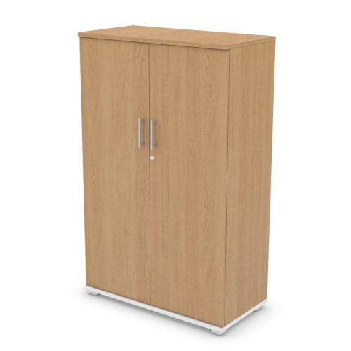 L&P SIGNATURE Cupboard 1600H x 1000W White Base/Light Oak Finish