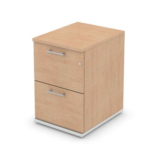 L&P SIGNATURE Filing Cabinet Two Drawer 725H White Base/Beech Finish