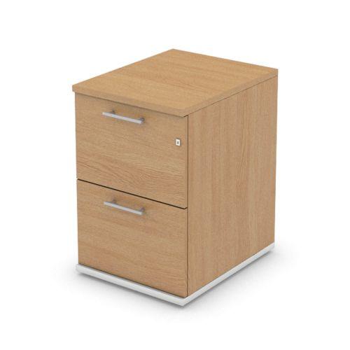 L&P SIGNATURE Filing Cabinet Two Drawer 725H White Base/Light Oak Finish