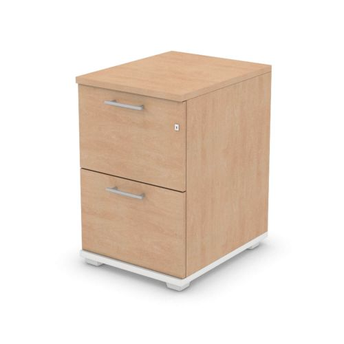 L&P SIGNATURE Filing Cabinet Two Drawer 740H White Base/Beech Finish