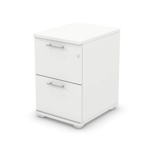 L&P SIGNATURE Filing Cabinet Two Drawer 740H White Base/White Finish