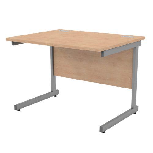 L&P SATELLITE Rectangular Cantilever Desk 1000mm Grey Beech