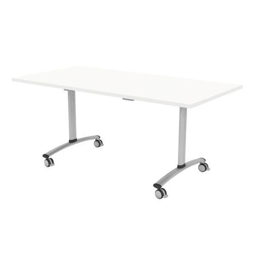 L&P TILT TOP Rectangular Table 1400mm Silver White