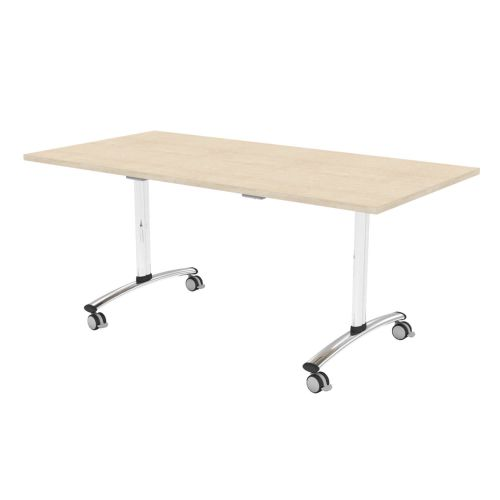 L&P TILT TOP Rectangular Table 1600mm Chrome Maple