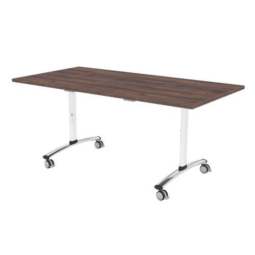 L&P TILT TOP Rectangular Table 1600mm Chrome Walnut
