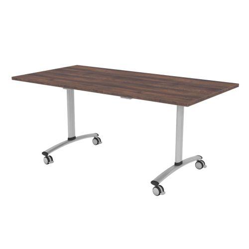 L&P TILT TOP Rectangular Table 1600mm Silver Walnut