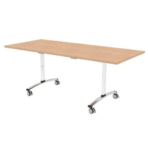 L&P TILT TOP Rectangular Table 1800mm Chrome Beech