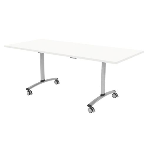 L&P TILT TOP Rectangular Table 1800mm Silver White
