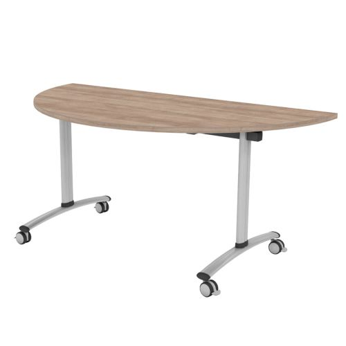 L&P TILT TOP Semi-Circular Table 1600mm Silver Birch
