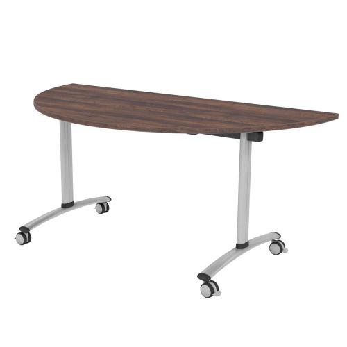 L&P TILT TOP Semi-Circular Table 1600mm Silver Walnut