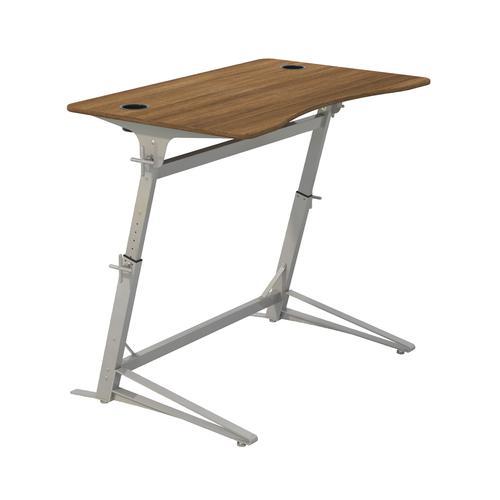 Safco Verve Height-Adjustable Standing/Perching Desk Walnut 1959WL