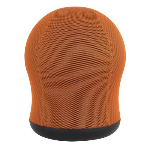 Safco Zenergy Swivel Ball Chair Orange Mesh with 360 deg Swivel Base 4760OR