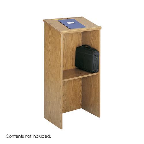 Safco Stand Up Lectern 1164hx584wx400d Medium Oak 8915MO