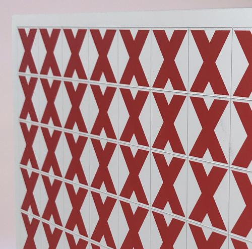 Thick Flexible Magnetic Performance Indicator RED CROSS 35x35mm Red A044CROSSRED [Sheet 1x64]