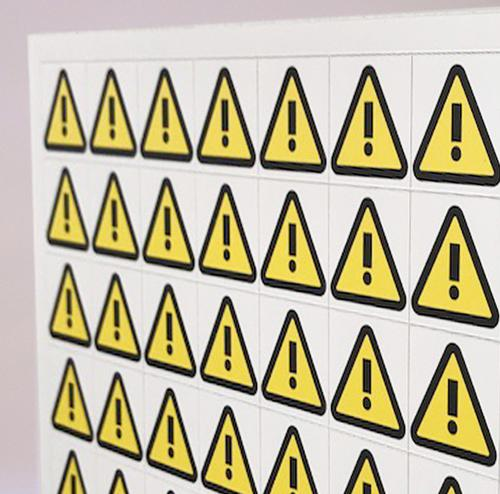 Thick Flexible Magnetic Performance Indicator WARNING TRIANGLE 35x35mm Blk/Yellow A044EXCLBY [1x64]