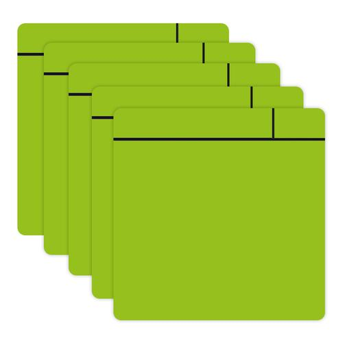 Flexible Magnetic Dry Wipe Post-it Notes 100x100mm Green A046POSTGRE [Pack 5]