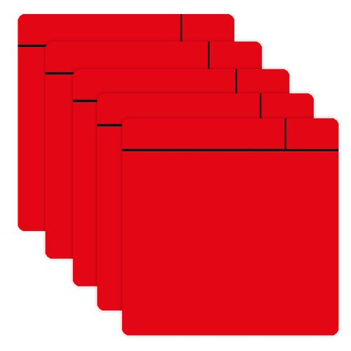 Flexible Magnetic Dry Wipe Post-it Notes 100x100mm Red A046POSTRED [Pack 5]