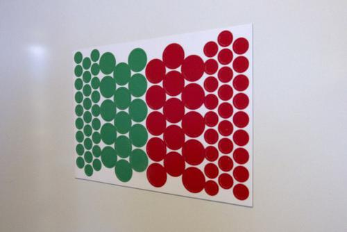 Flexible Magnetic Performance Indicator CIRCLES 10/20mm Diameter Green and Red A00095 [Pack 1]