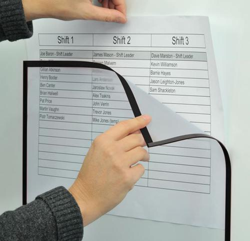 Magiboards Solo Magnetic Paper Holders A3 Black PK6