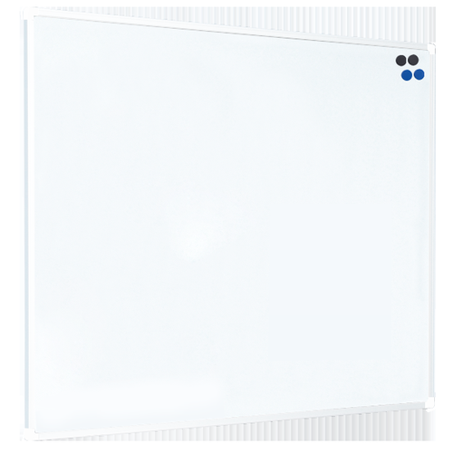 Langstane WHITE Aluminum Frame Magnetic Steel Drywipe Board 1500x1200mm LPBC1006WHI
